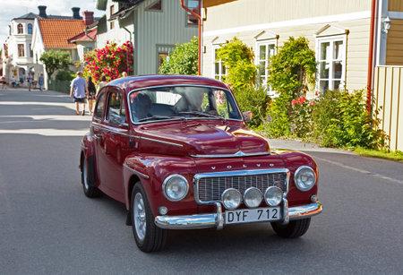 pv: TROSA SWEDEN July 7 2016. Volvo PV 544, red. Year 1965.