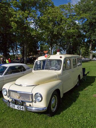 pv: TROSA SWEDEN July 7 2016. VOLVO PV 445, ambulance. model year 1959.