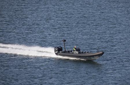 STOCKHOLM SWEDEN 26 July 2017.  Powerboat in Stockholm archipelago. Редакционное