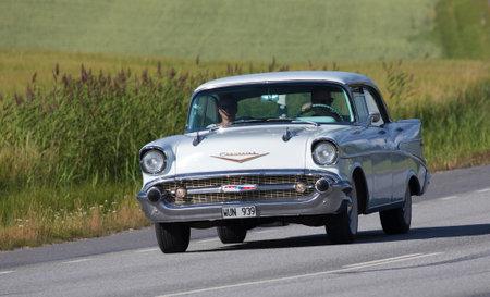 bel air: TULLGARN SWEDEN July 13, 2017. Chevrolet Bel Air. Year 1957.
