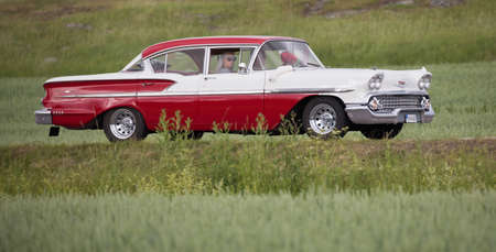 TROSA SWEDEN June 22, 2017. CHEVROLET BEL AIR, V-8. 1958.