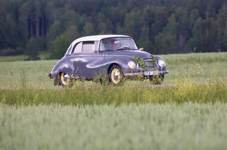 TROSA SWEDEN June 22, 2017. DKW AV 1000  1960,  Year Model 1960. On the way to veterans meeting in the small town of Trosa. Editorial