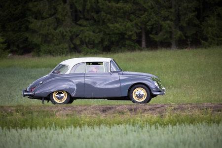 TROSA SWEDEN June 22, 2017. DKW AV 1000 Limousine Year Model 1960. On the way to veterans meeting in the small town of Trosa.