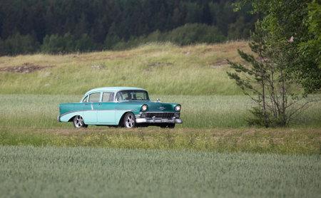 groomed: TROSA SWEDEN June 2 2017. CHEVROLET MOD 2103 model year 1956.