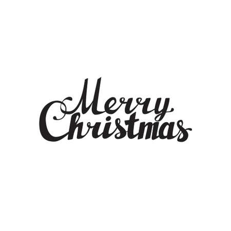 caligraphy: Holidays hand lettering words merry christmas caligraphy on white background Illustration