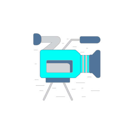 pictogramm: Vector concept illustration of video camera in outline style