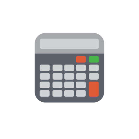 computation: Vector icon or illustration showing computation with calculator in material design style Illustration