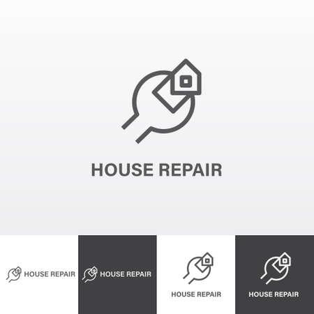serv: House repair services vector logo eps