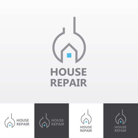 house building: House repair services vector logo eps