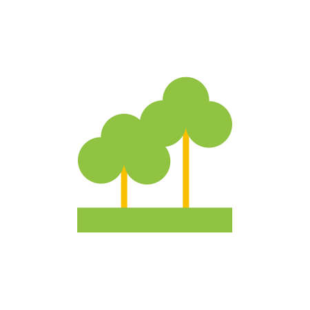 pictogramm: Vector icon or illustration showing park and outdoors in material desighn style.