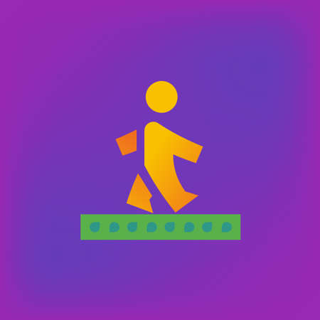 rd: Vector icon or illustration showing walking human in brutalism style Illustration