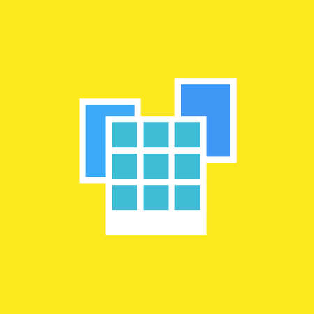 openspace: Vector icon or illustration showing office buildings in outline style