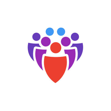 Vector icon or illustration showing group of people in material design style Illustration