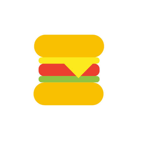 Vector icon or illustration showing hamburger in material design style