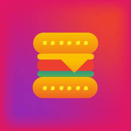 Vector icon or illustration showing hamburger in brutalism style Illustration