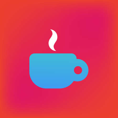 Vector icon or illustration showing cup of coffee or tea in brutalism style