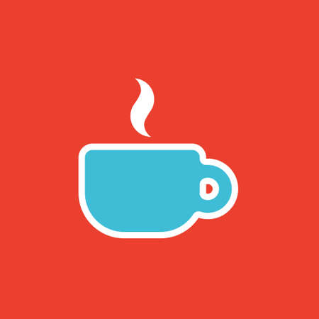 Vector icon or illustration showing cup of coffee or tea in outline style