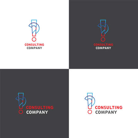 checking accounts: Vector logotype eps 10 about consulting company