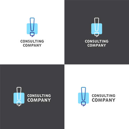 checking account: Vector logotype eps 10 about consulting company