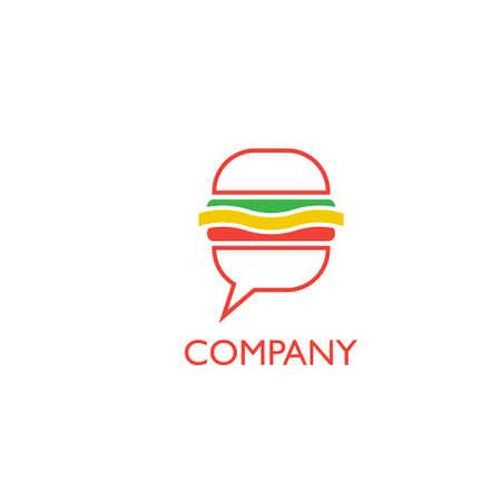 Eat, food delivery or restoraunt logo