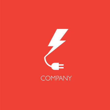 Electronics services or goods company logo Illustration