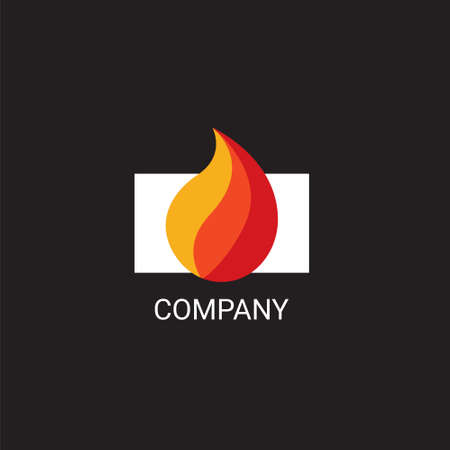 household goods: Vector eps logo design for fireplace services or store company Illustration