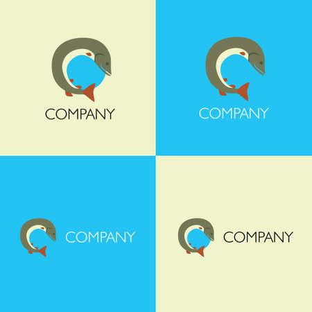 Vector eps logo design for fishing goods or club company Illustration