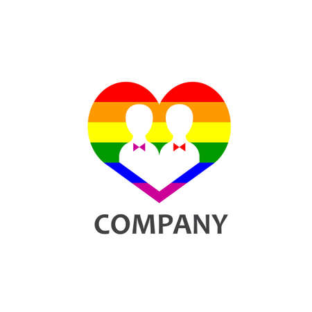 mariage: Gay community or services company Illustration