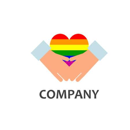 mariage: Gay community or services company logo Illustration