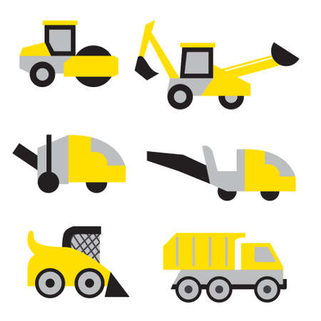 Road work icons or artworks elements set