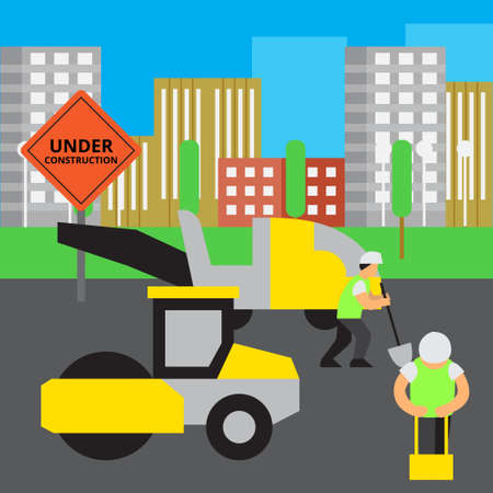 Road work vector illustration. Illustration