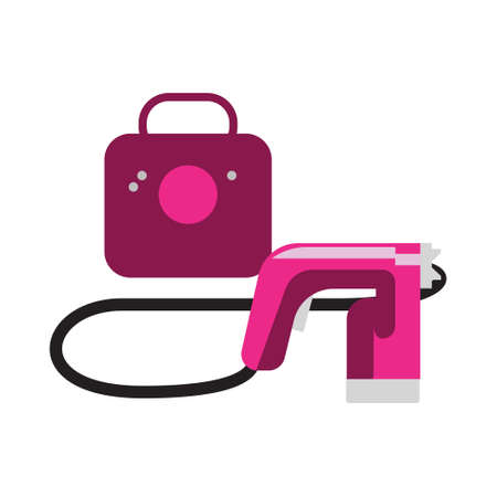 Vector tanning spray machine illustration
