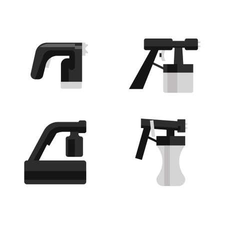 Vector set of tanning spray machines Illustration