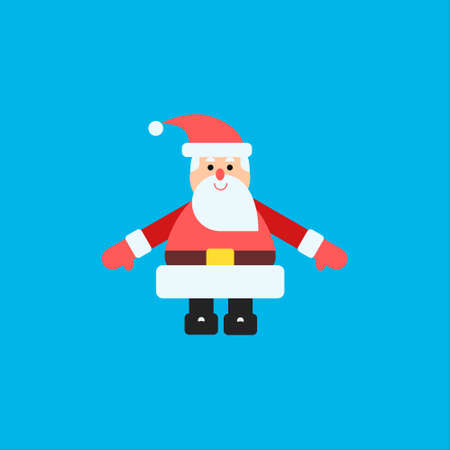 Vector illustration with santa claus at blue background in modern flat style. Good for animation and design Illustration
