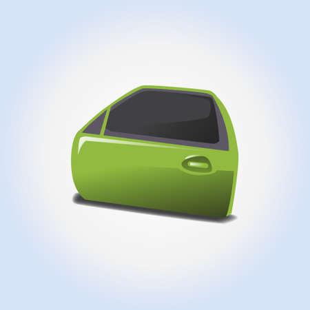 Car window tinting vector icon or illustration Vettoriali