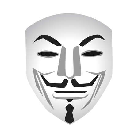 Anonymous mask vector illustration on white background