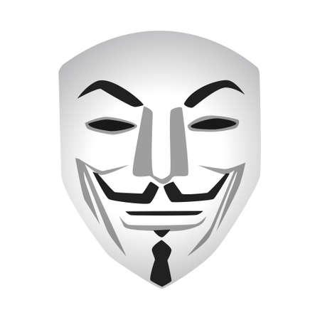 Anonieme masker vectorillustratie op witte achtergrond