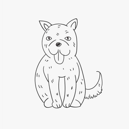 hand drawed dog illustration for chinese new year celebration 2018