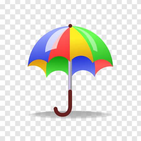Vector illustration of 3d colorful umbrella.