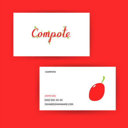 logotype design concept compote drink