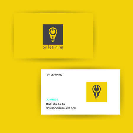 logotype design concept lighting bulb with on sign Illustration