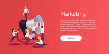 Vector illustration - marketing and advertising in flat style. Stock Photo