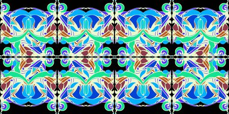 Mandala. Decoratief kantpatroon