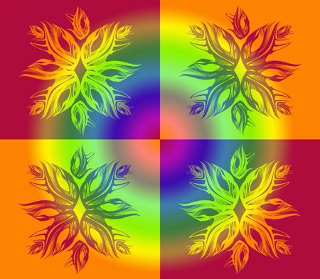 Abstract ornament with flower or snowflake