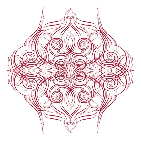 Mandala. Decorative round blue lace pattern Stock Photo