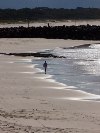forster: Alone on the beach