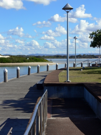 forster: Forster boardwalk on a sunny day Stock Photo