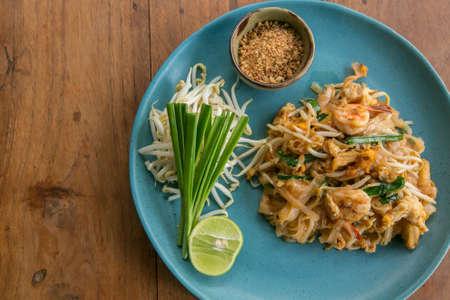 Thai food Pad thai ,Stir fry noodles with pork