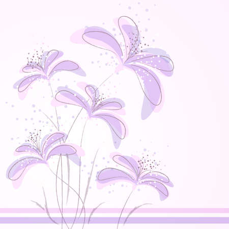 pastel colored: Romantic Flower Background  Illustration