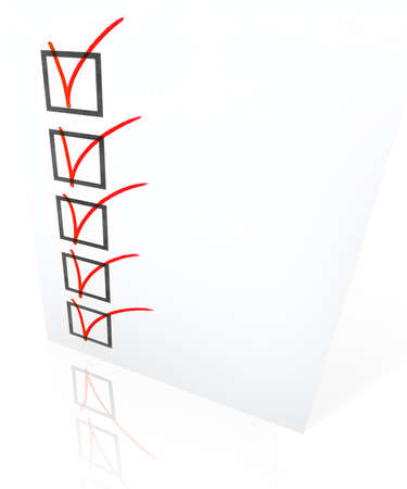 baccalaureate: Full checklist on a white background